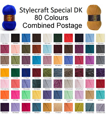 Stylecraft Special DK Wool Double Knitting & Crochet Yarn 100g BUY 10 SAVE 5% • 1.89£