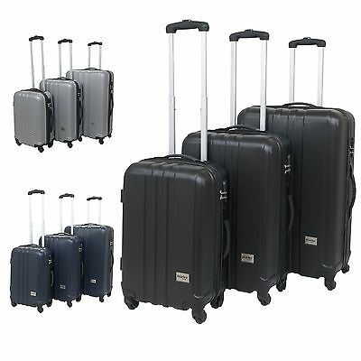 Hard Shell Suitcase Trolley Luggage Travel Cabin Bag Case Large Medium Small • 24.99£