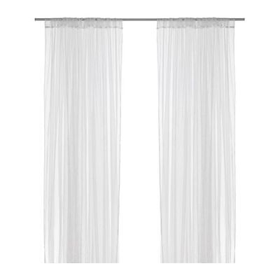 AU37.95 • Buy 2 Pairs IKEA Long White Lace Net Sheer Curtains Brand New 280 X 250 Cms Curtain