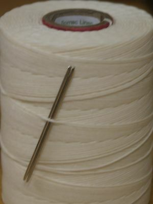 £8.95 • Buy 18/4  Waxed Linen Hand Sewing Thread For Leather/canvas & 2 Needles - Natural