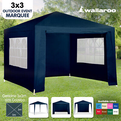 AU99 • Buy NEW BLUE 3x3 GAZEBO PARTY TENT EVENT MARQUEE AWNING OUTDOOR PAVILION CANOPY