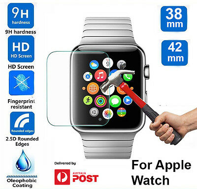 AU5.99 • Buy Tempered Glass Screen Protector For Apple Watch Iwatch 38 Mm 42 Mm