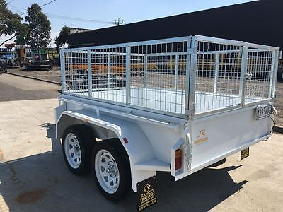 AU2799 • Buy 8x5 Tandem Trailer With Cage