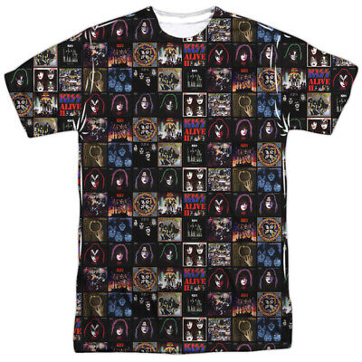 $26.95 • Buy Kiss Album Covers Sublimation Licensed Adult T-Shirt