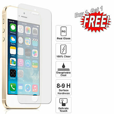 GENUINE TEMPERED GLASS SCREEN PROTECTOR PROTECTION FOR APPLE IPhone 5 6 7 8 Plus • 1.99£