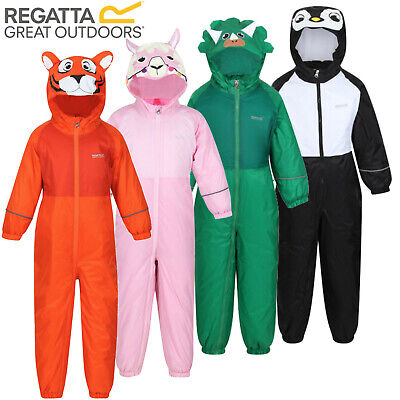 Regatta Mudplay Waterproof Snow Suit Padded Fleece Lined All In One Kids Rain • 24.90£