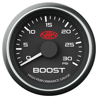 AU69.95 • Buy SAAS Universal Diesel Turbo Boost Gauge Black Face 0-30 PSI 52mm