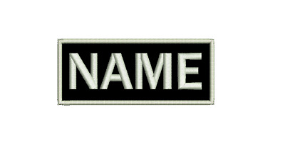 Embroidered Custom Made Personalised Name Tag Patch 10x4 Felt NEW Made To Order • 6£