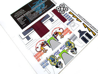 CUSTOM STICKERS For STAR WARS Lego 7676 REPUBLIC ATTACK GUNSHIP + DATA STICKER • 4.52£