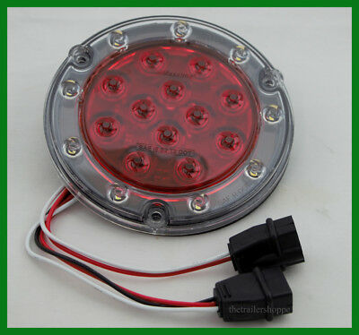 $38.95 • Buy Maxxima Hybrid 5.5  Round Lighting Low Profile 12 Red LEDs STT & 9 White Backup