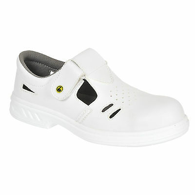£28.99 • Buy  WHITE Safety Sandals Perforated Clogs Shoes Steel Toe Cap Chef Kitchen Fw48