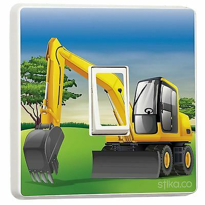 JCB Excavator Digger Light Switch Sticker Vinyl Cover Skin By Stika.co • 2.49£