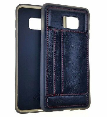 $ CDN10 • Buy Samsung Galaxy S6 Edge Plus - TPU LEATHER 2 CREDIT CARD WALLET CASE COVER BLACK