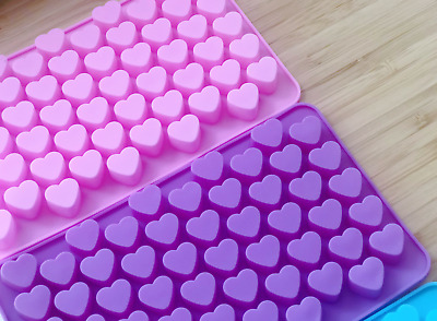 55 Hearts Silicone Chocolate Mould Mold Gummy Wax Jelly Ice Candle Mother's Day • 2.15£