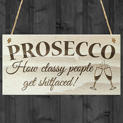 £3.99 • Buy Prosecco Wall Sign Shabby Chic Humour Kitchen Girls Friends Alcohol Joke Plaque