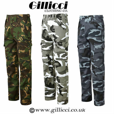 £14.89 • Buy Mens Casual Workwear Camouflage Camo Woodland Outdoor Army Combat Trousers Pants