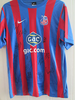 Crystal Palace 10-11 Squad Signed Home Football Shirt BNWOT FLT Letter /39597 • 84.99£