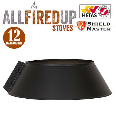 Twin Wall Insulated Flue Pipe Multifuel Storm Collar Shieldmaster Black • 23.03£
