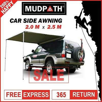 AU109.90 • Buy OzEagle Car Side Awning Roof Top Tent  2M X 2.5M Camper Trailer Camping 4WD 4X4