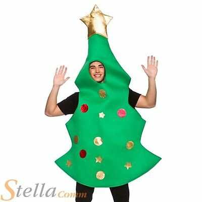 Adult Christmas Tree Xmas Fancy Dress Costume Mens Ladies Unisex Outfit • 22.49£