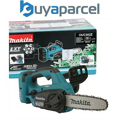 View Details Makita DUC302Z Twin 18v / 36v LXT Cordless Lithium Ion Chainsaw 300mm Bare Unit • 109.99£