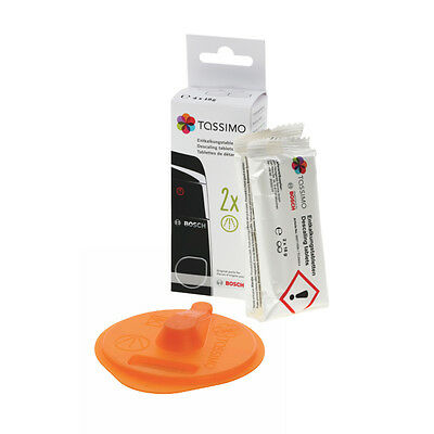 Genuine Bosch Coffee Descaler Tablets & Tassimo Service Disc For T45,T55 • 12£