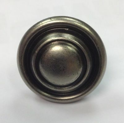 Pewter Button Knob Handle Kitchen Cupboard Door 32mm Antique Pewter Effect • 1.99£