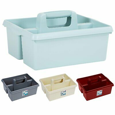 £8.99 • Buy Plastic Storage Caddy Tool Tidy Kitchen Utility Cleaning Organiser Laundry Carry