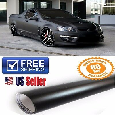 $10.80 • Buy PREMIUM 12 X60  Matte Flat Black Vinyl Wrap Sticker Decal Paint Protection Film