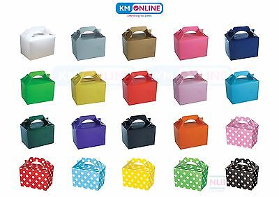 £6.99 • Buy Coloured Party Boxes For Children Kids Food Loot Lunch Gift Birthday Box Bags