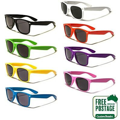 AU9.95 • Buy Classic Retro Sunglasses - Coloured Frame (Men's / Women's) Excellent Quality