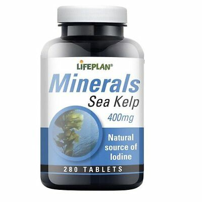 View Details Lifeplan Minerals Sea Kelp 400mg 280 Tablets Natural Source Of Lodine  • 7.25£