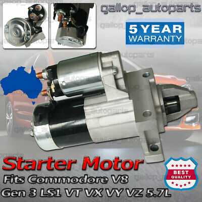 AU70.55 • Buy VZ VE VF VT VX VY VZ VU Commodore Starter Motor For Holden Gen3 Gen4 5.7L LS1