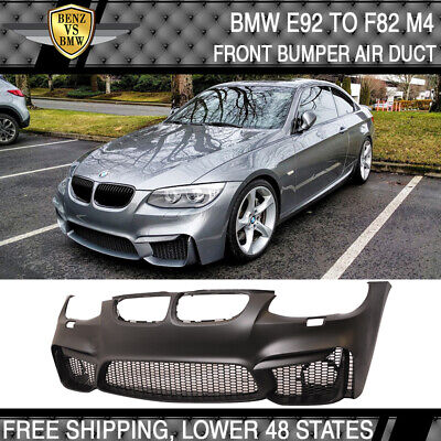 $459.98 • Buy Fit 11-13 BMW E92 LCI To F82 M4 Conversion Front Bumper Air Duct With Mesh Grill