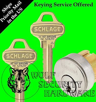 $54.15 • Buy Qty 1 Schlage Mortise Cylinder 1 1/8 C123 Everest Keyway 626 1 Bitted