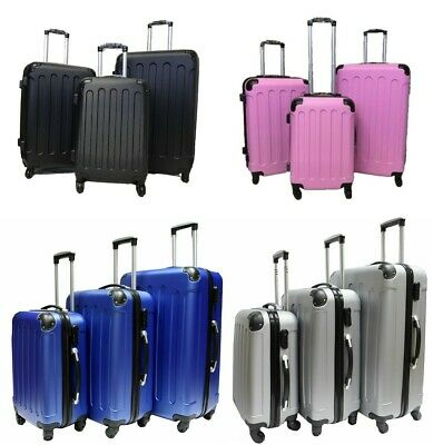 Hard Shell 4 Wheel Spinner Suitcase Case Luggage Trolley Cabin Carry On 4COLOURS • 31.99£