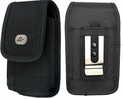 £4.01 • Buy Large Rugged Canvas Case Holster Fits W/ Otterbox On For AT&T LG Phones