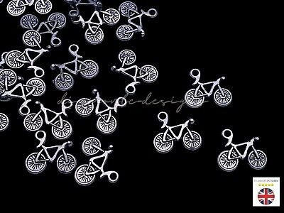 Tibetan Silver Bicycle Charms Craft Pendant Beading Bike Jewellery Sport ML • 11.59£