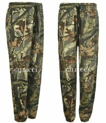 £14.99 • Buy Mens Fleece Jungle Print Camo Cargo Combat Joggers Jogging Bottoms Pants S- 5xl