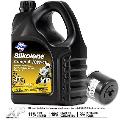 Suzuki GSX-R 1000 K2 2002 Silkolene Comp 4 XP Oil And K&N Filter • 38.99£