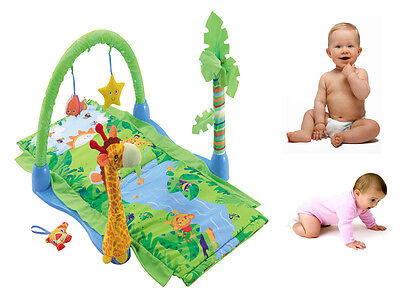 £116.94 • Buy Tropical Rain Forest Padded Playmat Activity W/ Toys Hanging Toys Soft Baby Gym