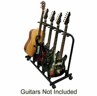 $ CDN91.22 • Buy Multi 5 Guitar Scratch Free Electric Or Acoustic Rolling Cart Storage Stand New