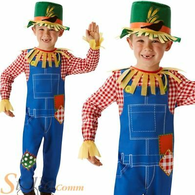 Boys Mr Scarecrow Book Week Fancy Dress Costume Wizard Of Oz Child Outfit • 9.98£