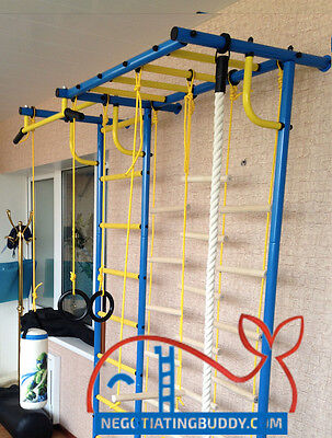 £387.74 • Buy Indoor Sport Playground. Gym For Kids. Swedish Ladder Rings Trapeze Rope ! Sale
