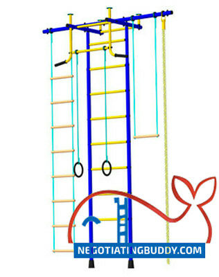 £248.48 • Buy Indoor Sport Playground. Gym For Kids. Swedish Ladder Rings Trapeze Rope ! Sale