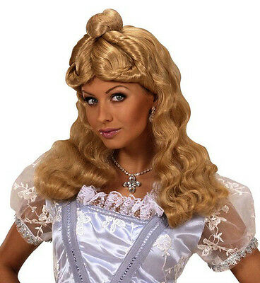 Ladies Long Blonde Wig Goldilocks Rapunzel Cinderella Alice Fairy Tale Fancy Dre • 14.95£