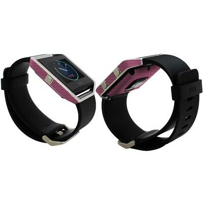 AU23.39 • Buy Skinomi Pink Carbon Fiber Skin & Screen Protector For Fitbit Blaze