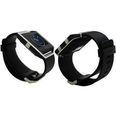 AU23.39 • Buy Skinomi Carbon Fiber Skin & Screen Protector For Fitbit Blaze