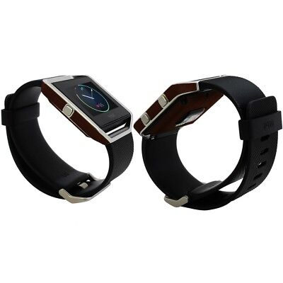 AU23.39 • Buy Skinomi Dark Wood Skin & Screen Protector For Fitbit Blaze