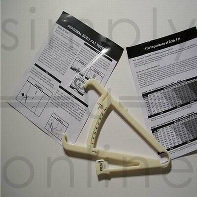 £2.19 • Buy Brand New Body Fat Calipers Tester Complete With Instructions Manual & Charts